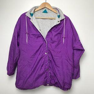 Vintage 90s Reversible Windbreaker Jacket